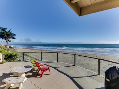 Photo for Classic Cayucos waterfront beach house with furnished deck and ocean views!