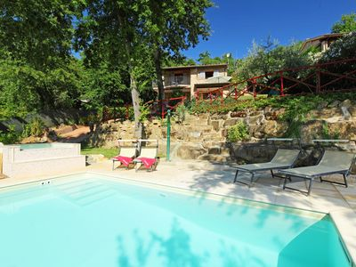Photo for Beautiful private villa for 5 guests with private pool, hot tub, WIFI, TV, balcony and parking