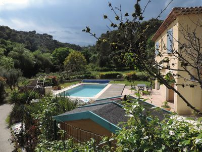Photo for family villa with pool in quiet Provençal village of Biot