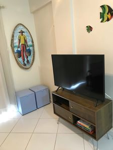 Photo for Cozy apartment 3min from Praia Grande for 6 people