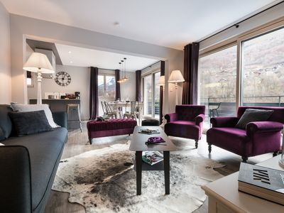 """Photo for Ski Spa Thermalisme, Les 3 Vallées, cosy apartment""""Aster"""" mountain view"""