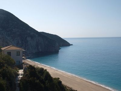 Photo for The Only Really Beachfront Villa in Lefkas