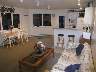 B&B living room, kitchen and dining area. Big screen TV & internet, great veiws!