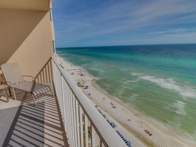 Photo for Beachfront condo with shared hot tub, sauna, and pools offers stunning views!