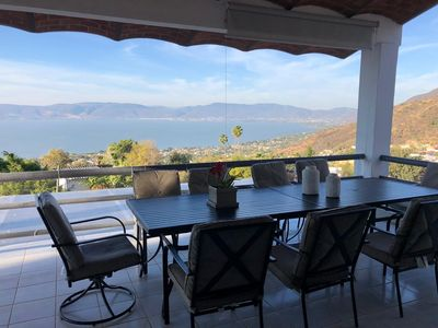 Photo for HOUSE FACING CHAPALA LAKE WITH BEAUTIFUL VIEW FROM ITTERRACES 24 HOURS SECURITY