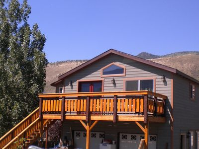 Built 2013  spacious Tortilla Flats  on the Yellowstone River,  in town.