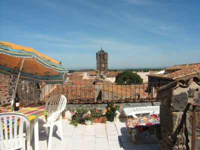 Agde -secluded roof terrace, panoramic views