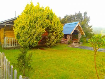 Photo for Pretty chalet and bungalow on the volcano road, quiet and relaxing place ...