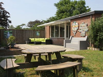 Photo for Beautiful Bungalow located on the coast of Sintmaartenzee in North Holland. WIFI