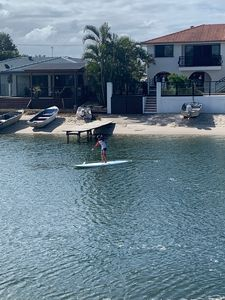 Paddle boarding on the canal