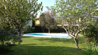Photo for Villa 500 m from the Sea and Market - 8 people - Heated pool