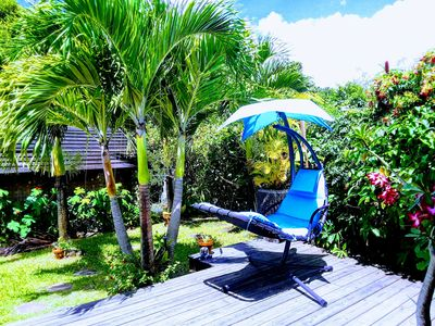 Photo for Charming villa in a quiet area with Jacuzzi and tropical garden, without vis-à-vis