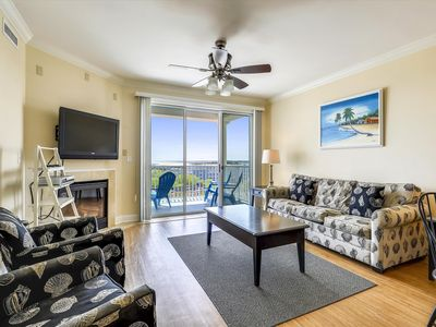 Photo for Condo with Great Bay and Inlet views and Walk to Beach & Boardwalk!
