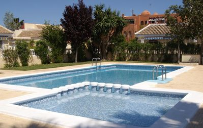 Photo for South facing Bungalow in Los Alcazares with shared pool . Free wifi and UK tv