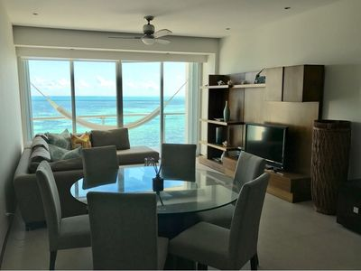 Photo for Gorgeous apt with panoramic sea views at Cancun Hotel Zone!