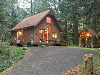 Photo for Mt. Baker Lodging - Cabin #67 - Private 2-story cabin with a private hot tub!