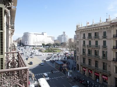 Photo for Spacious Luxury Plaza Catalunya Views apartment in Eixample Esquerra with WiFi, air conditioning, p…