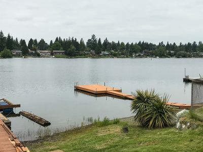 Photo for NEW LISTING! Family-friendly, lake front & view home w/ deck, kayaks & WiFi!
