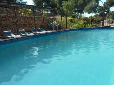 Photo for VILLA + APPT + STUDIO SECURE PRIVATE POOL 2,5 KM BEACH-CENTER CALM - PROVENCE