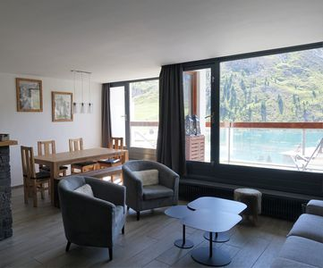 Photo for Tignes le lac - Luxurious 3 bedrooms lake and glacier view 78 m2