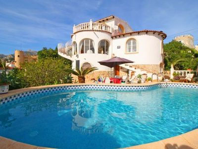 Photo for 2 bedroom Villa, sleeps 5 with Pool, Air Con, WiFi and Walk to Beach & Shops