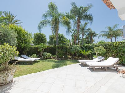 Photo for Lovely spacious 4 bedroom house 500 meters from beach in Guadalmina casasola