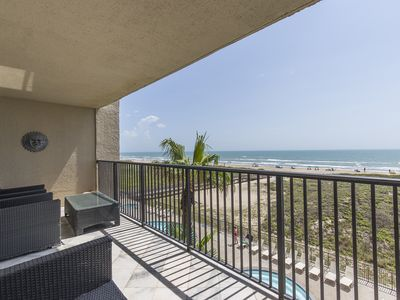 Photo for Elegant Ocean Front Condo at Ocean Vista!  Great Views of the Gulf, Large Pool and Hot Tub!