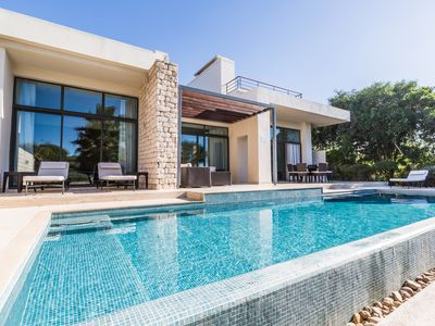 Photo for Luxury Villa With Private Heated Pool And Sea View By Golf Course