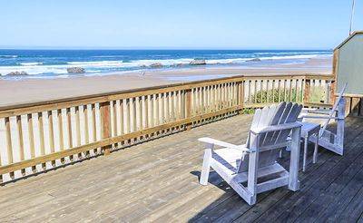 Photo for Cozy Oceanfront Home with 2 King Bedrooms, 1 House Away from Beach Access