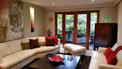 Photo for Oasis Retreat-Luxury Spacious home, beautiful views. Dog friendly-secure garden