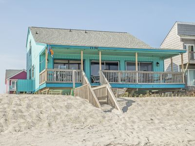 Photo for A Pirate's Paradise: 4 Bed/2 Bath Oceanfront Home with Covered Porch and Deck Swing