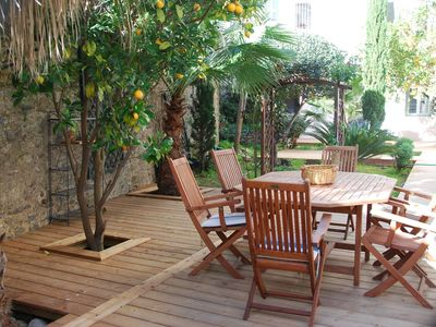 Photo for Splendid Flat 12p with garden, parking, terrace 120m2, in the heart of Collioure