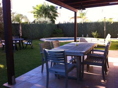 Photo for PRIVATE VILLA AT 50 MTS BEACH WITH POOL IN OLIVA NOVA