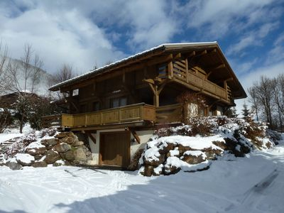 Photo for THE SOLARET Beautiful Chalet Individual great comfort 4 * service in MEGEVE
