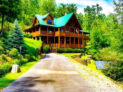 Photo for Massive Forest Cabin in Gatlinburg!  Mountain Paradise