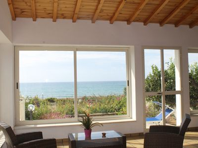 Photo for Villa Sara, an air-conditioned veranda overlooking the sea.