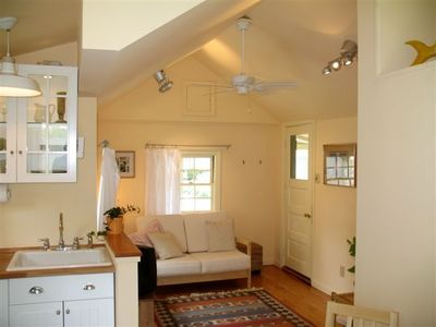 Open floor plan...cathedral ceiling