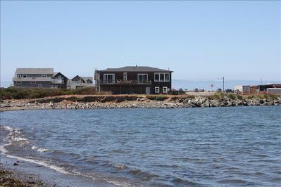 A view of the house from the Small Beach
