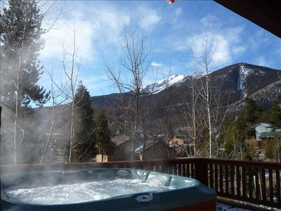 Jacuzzi Hot Tub on Lower Back Deck