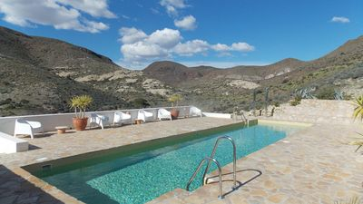 Photo for Cottage with pool in a spectacular location only 3000 m from the beach