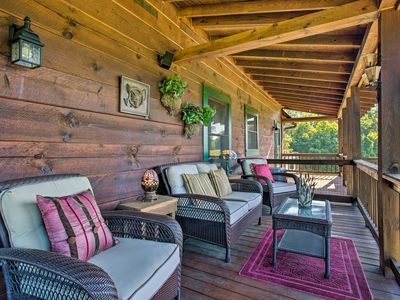 Photo for NEW! Spacious Mill Spring Blue Ridge Cabin w/Porch