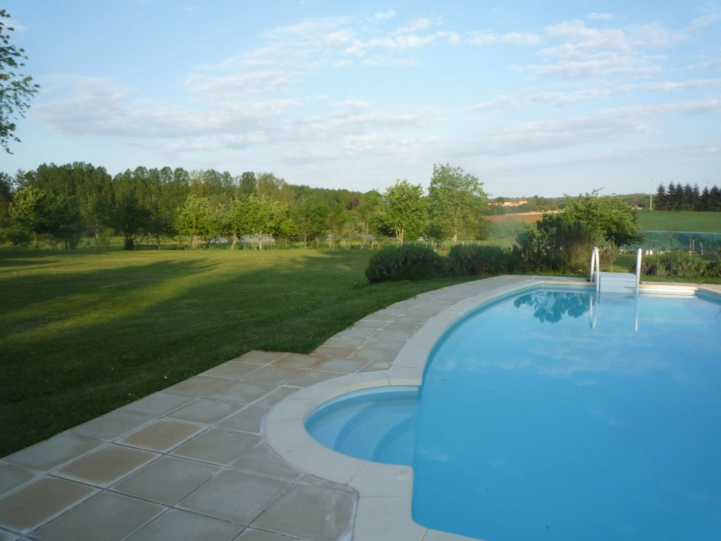 Gite with private garden and pool with stunning views don for Garden pool book