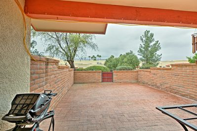 The spacious, private patio is the perfect sunset viewing space!