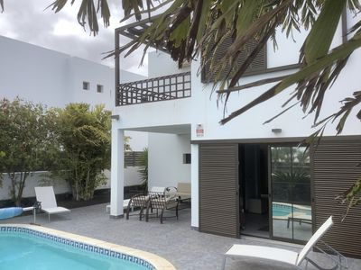 Photo for Sea views modern beach villa with private pool and beautiful garden