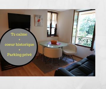 Photo for T2 in the heart of the old town at the foot of the castle, with private parking