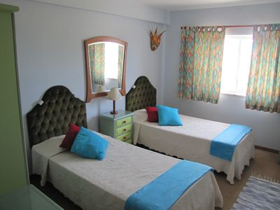 Bedroom #2 with 2 single beds.