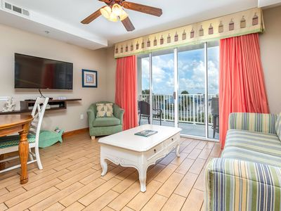Photo for Balcony Overlooking Ocean and Pools at Beachfront Resort with On-Site Restaurant