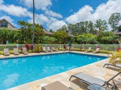Photo for New rental special! Princeville Sands Condo with Pool and Hot Tub (137-1)