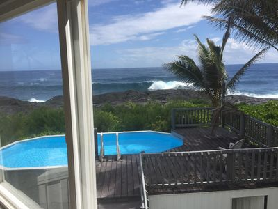 Photo for Stunning Ocean Front home with pool & AC. Watch whales and Turtles. 🐋 🐢