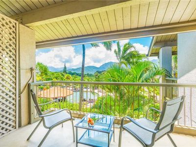 Photo for Amazing Views From this Upper-Level Princeville Condo with Air Conditioning